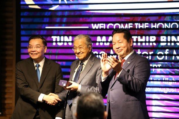 Thủ tướng Malaysia Mahathir Mohamad thăm và làm việc tại Khu Công nghệ cao Hòa Lạc